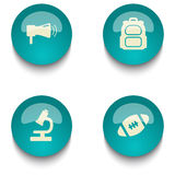 Blue green education web button set. Blue green web button set on white background Royalty Free Stock Photography