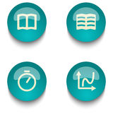 Blue green education web button set. Blue green web button set on white background Royalty Free Stock Photos