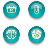 Blue green education web button set. Blue green web button set on white background Royalty Free Stock Photo