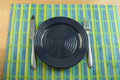 Blue green empty place setting Stock Image