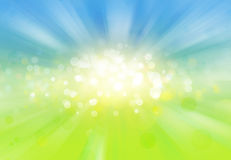 Blue green explosion Stock Photography
