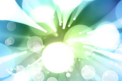 Blue green explosion Royalty Free Stock Images