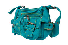 Blue-green fabric women bag Royalty Free Stock Images