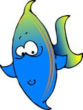 Blue/green fish. This illustration depicts a blue & green fish Stock Photos