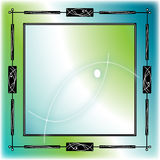 Blue Green Fish Frame. Illustration consisting of an artistic frame with modern fish silhouettes in black and white on a green and blue background Stock Images