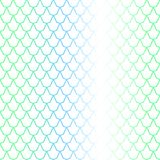 Blue green fish scale seamless pattern with colorful gradient. Fish skin  background. Scale ornament. Mermaid pattern. Fish seamless pattern tile. Mermaid Stock Photography