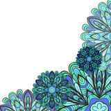 Blue-green Floral Corner Royalty Free Stock Image