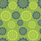 Blue and green floral pattern. Seamless flower background. Vector Royalty Free Stock Images