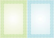 Blue and green frames Stock Photography