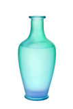 Blue Green Frosted Glass Vase Isolated Royalty Free Stock Image