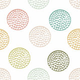Blue, green geometric seamless pattern with grunge polka dot on white background. Textured circles. Geometrical background for wrapping paper, website Royalty Free Stock Photography