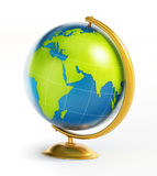 Blue and green globe isolated on white background. 3D illustration Stock Photo