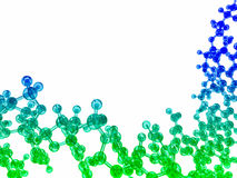 blue and green glossy chemical molecular structure Royalty Free Stock Photo