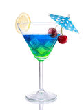 Blue-green gradient Cocktail with design Stock Images