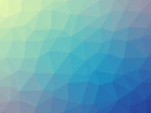 Blue green gradient triangle shaped background Royalty Free Stock Photos