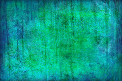 Blue-green grunge background. Grunge style blue and green background with scratches and paint Stock Photo