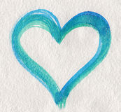 Blue green heart shape Royalty Free Stock Image