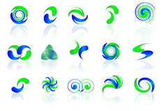 Blue & Green icons Royalty Free Stock Photo