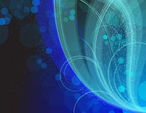 Blue and green illustration Stock Photos