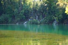 Lake with waterfalls Stock Photo