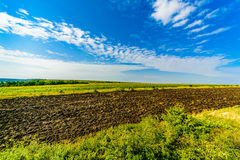 Blue And Green Landscape Royalty Free Stock Image