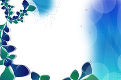 Blue and green leaves, abstract background Royalty Free Stock Images