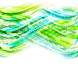 Blue and green linear drawing background with lights Stock Photography