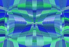 Blue and green lines drawing texture abstract. Background Royalty Free Stock Images