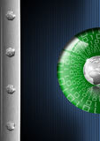 Blue Green and Metal Background Royalty Free Stock Photo