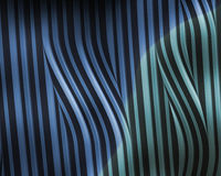 Blue Green metallic wavy stripes Stock Photos