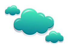 Blue Green Modern Clouds Royalty Free Stock Photo