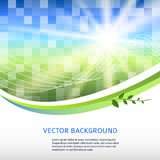 Blue-green-mosaic-background-square-label-product stock illustration