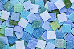 Blue and green mosaic tiles Stock Photos