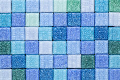 Blue and green mosaic tiles Royalty Free Stock Images
