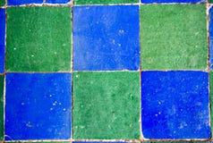 Blue green mosaic tiles Royalty Free Stock Photo