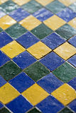 Blue green mosaic tiles Stock Images