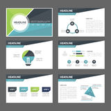 Blue and green multipurpose Brochure flyer leaflet website template flat design Royalty Free Stock Image