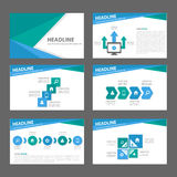 Blue and green multipurpose Brochure flyer leaflet website template flat design. Blue and green templates flat design set for brochure flyer leaflet website Stock Image