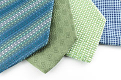 Blue and green neck ties Royalty Free Stock Photos