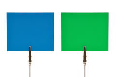 Blue and green notes Royalty Free Stock Photos