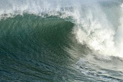 Blue Green offshore wind wave in the ocean. Huntington Beach california Stock Photos