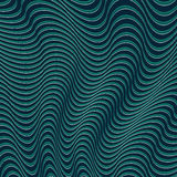 A blue and green optical illusion. Vector Illustration Royalty Free Stock Image