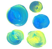Blue and green paint background set. Royalty Free Stock Photo