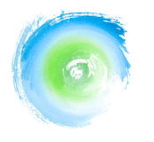 Blue Green Painted Swirl Eco Concept Symbol Royalty Free Stock Image