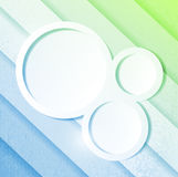 Blue and green paper lines and circles Stock Photo