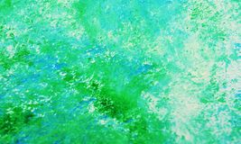 Blue green soft romantic painting watercolor background, abstract painting watercolor background. Blue green phosphorescent brush strokes, colors are placed at stock images