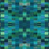 Blue and green plaid pattern texture abstract Stock Photos