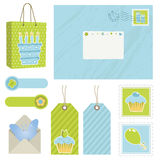Blue and green postage Royalty Free Stock Images