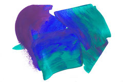 Blue green purple abstract white Royalty Free Stock Images