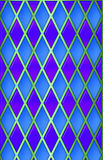 Blue/green/Purple harliquin. Metallic, 3-D harliquin pattern stock images